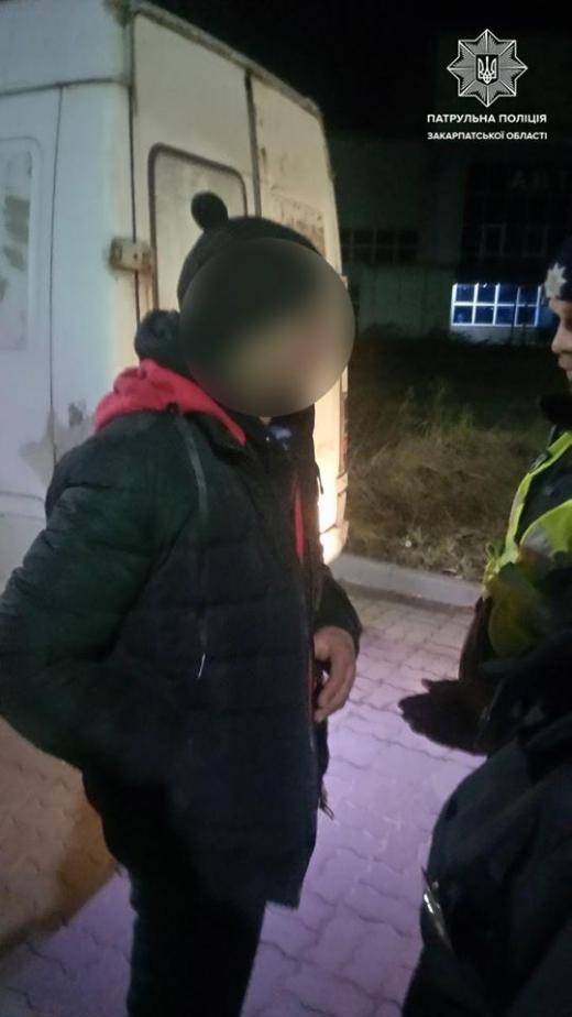 За одну ніч закарпатські патрульні затримали 6 нетверезих порушників