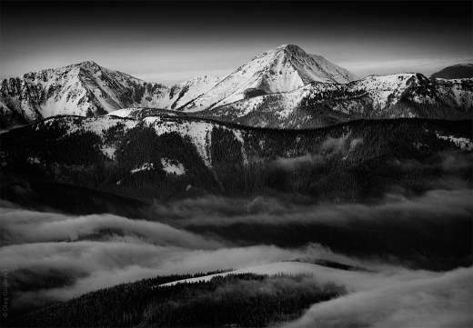 Карпатські гори в чорно-білому фільтрі від відомого фотографа