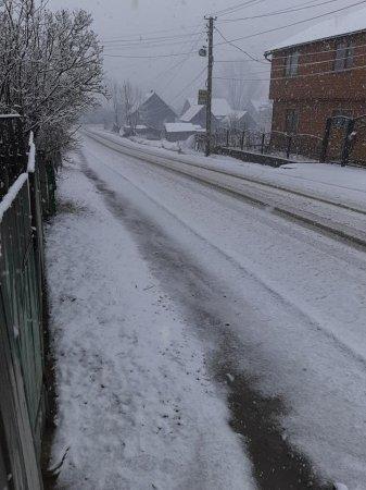 Рахівщину накрило снігом