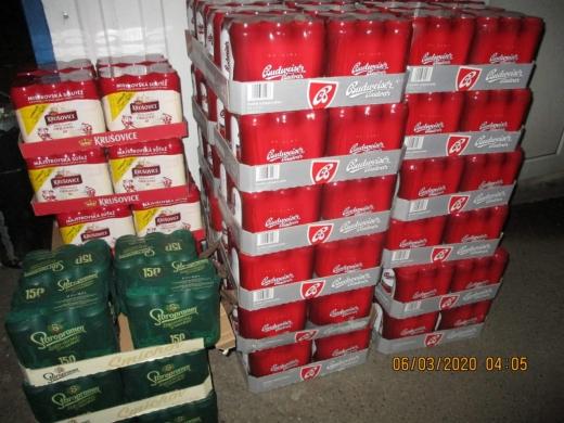 Склади Закарпатської митниці поповнилися на майже 400 літрів пива