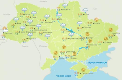Погода 9 березня: в окремих регіонах температура підвищиться до +20 градусів