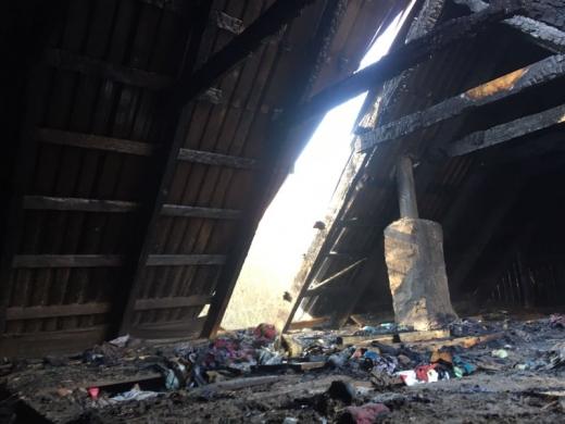 Під час пожежі на Закарпатті від вогню рятували дітей