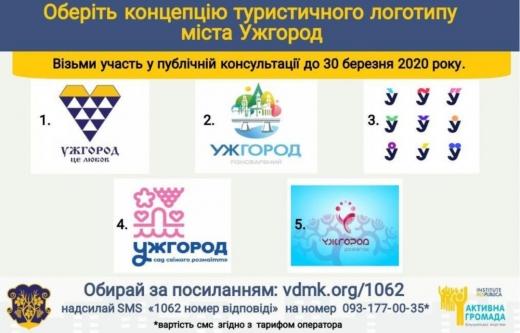 Ужгородцям пропонують обрати туристичний логотип міста