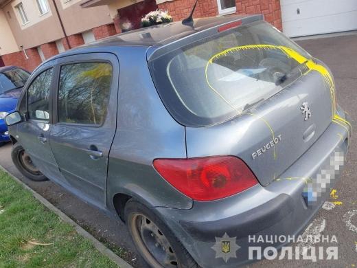 В Ужгороді депутату пошкодили автівку: подробиці від поліції