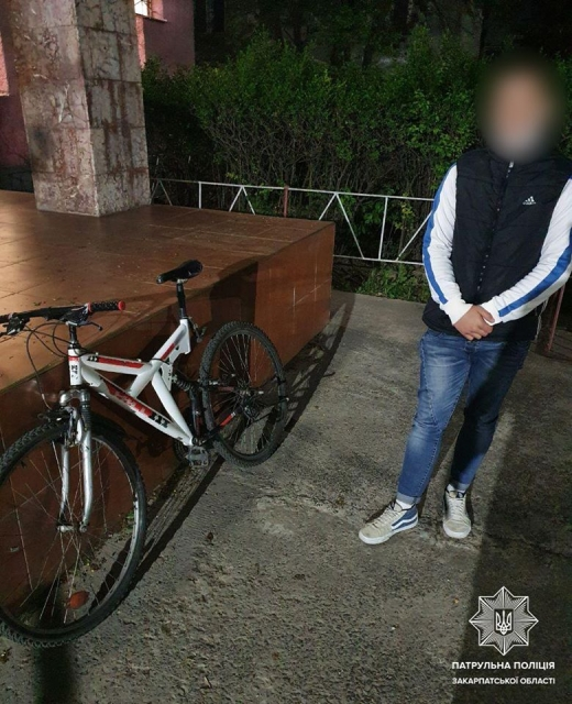 В Ужгороді власнику оперативно повернули викрадений велосипед