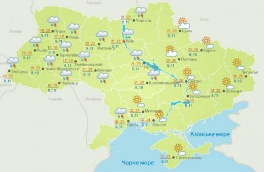 Погода 2 травня: на Заході рясно дощитиме