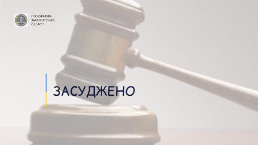До 9 років ув'язнення в Ужгороді засуджено раніше судимого неповнолітнього