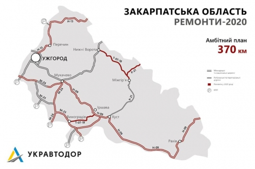 Стало відомо, які саме дороги планують відремонтувати та побудувати на Закарпатті