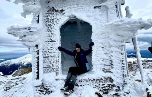 Закарпатка Ірина Галай на карантині підкорює вершини