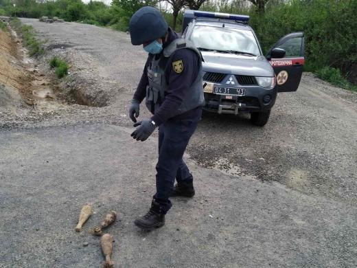 На Закарпатті знищили 3 мінометні міни