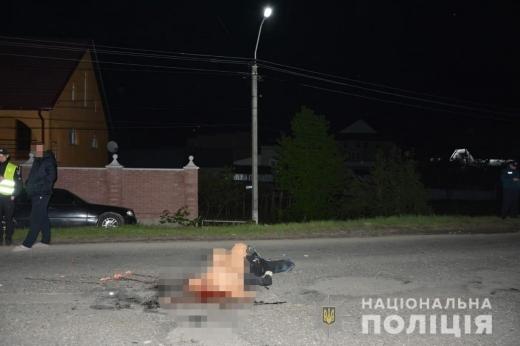 У Нижній Апші водій вантажівки збив насмерть пішохода і втік з місця події (ФОТО)
