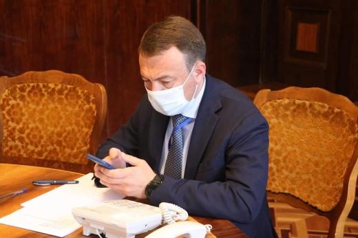 Голова Закарпатської ОДА провів пряму телефонну лінію