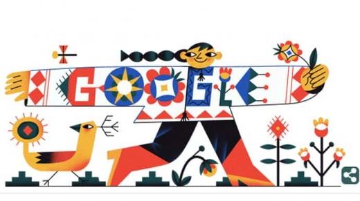 До дня вишиванки Google створив гарний дудл