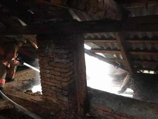 На Міжгірщині мало не згорів житловий будинок