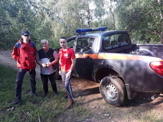 Заблукалих грибників усю ніч шукали закарпатські рятувальники