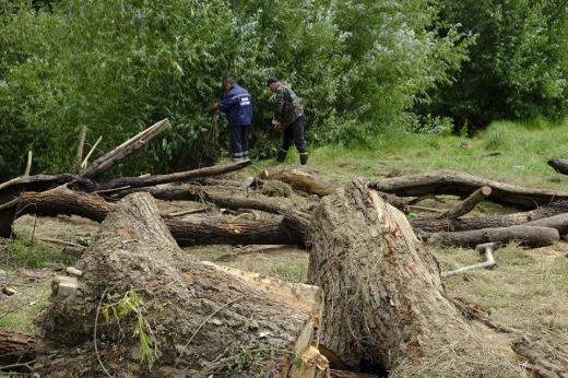 Закарпатські рятувальники розчищають річки від сміттєвих відходів