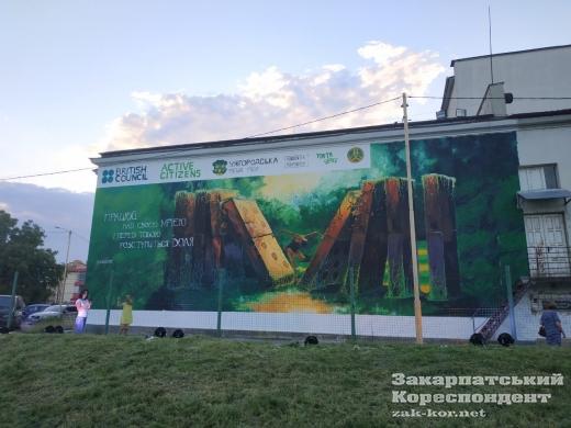 В Ужгороді відкрили мотиваційний мурал (фотофакт)