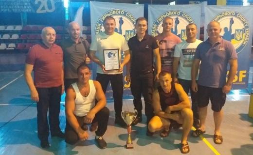 Команда УДСНС України у Закарпатській області посіла перше місце у гирьовому спорті
