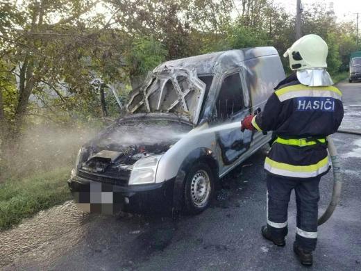На Виноградівщині під час руху загорівся автомобіль
