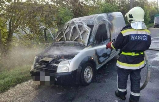 Автомобіль спалахнув  під час руху