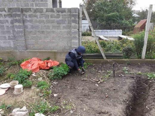 У Виноградові на власному подвір'ї господар виявив вибухівку