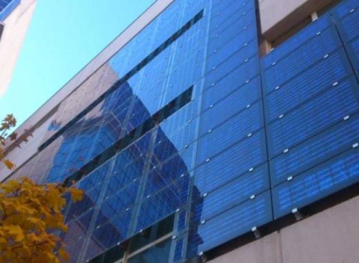 На фасаді будівлі Мінрегіону в Києві встановили сонячні панелі
