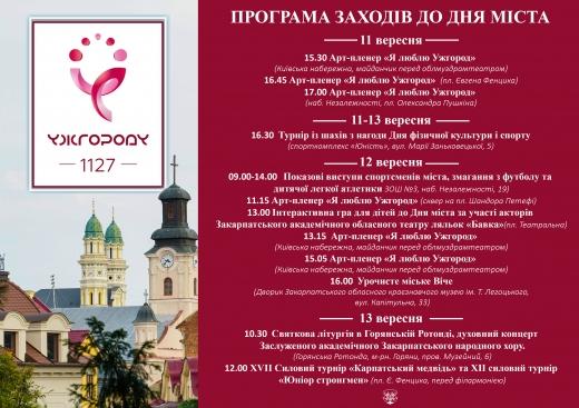 День Ужгорода: яким буде цьогорічне святкування