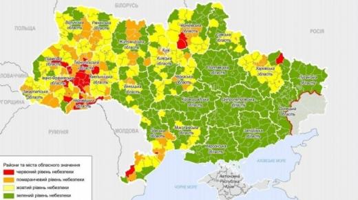 В Україні оновили епідемічні зони: Чоп у червоній