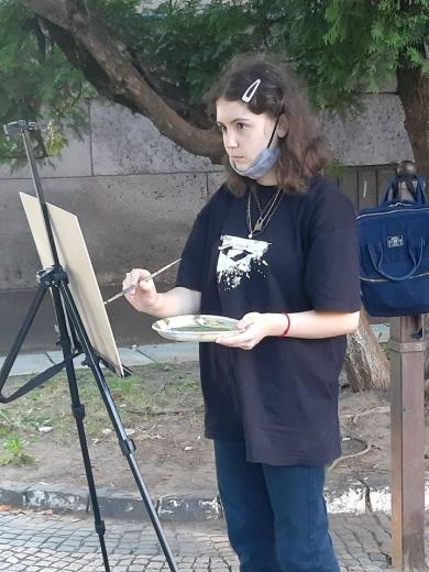 До Дня міста в Ужгороді відбувається дитячий арт-пленер учнів школи мистецтв