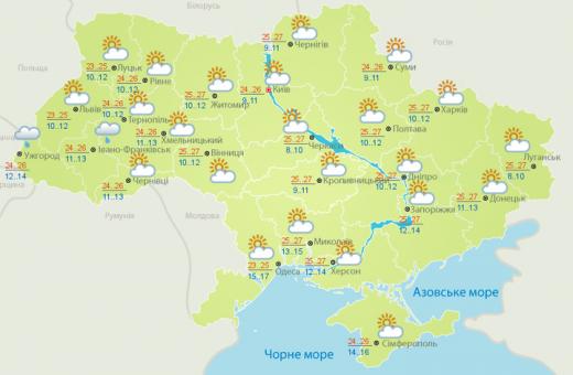 Погода 25 вересня: в України триває бабине літо