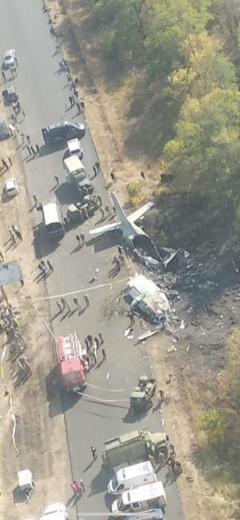 Оприлюднили фото з місця авіакатастрофи біля Чугуєва з висоти пташиного польоту