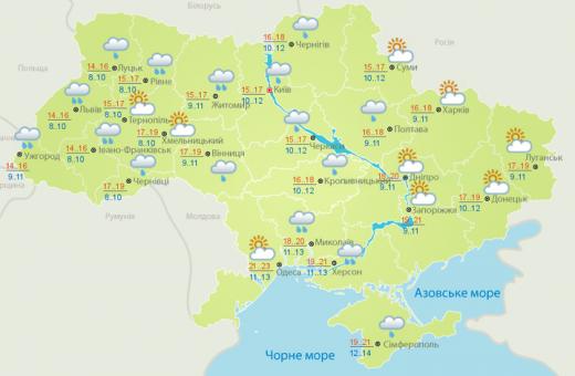 Погода 2 жовтня: майже у всіх регіонах України рясні дощі