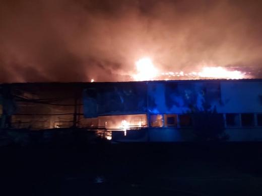У Мукачеві загорілась лижна фабрика «Тиса»
