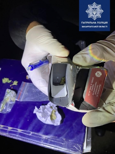 В Ужгороді патрульні виявили у велосипедиста галюценогенні гриби (ФОТО)