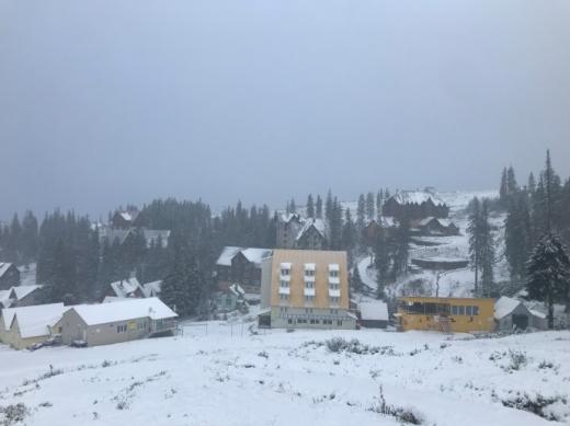 У горах сніжить, на Драгобраті уже 7 см снігу  (ФОТО)