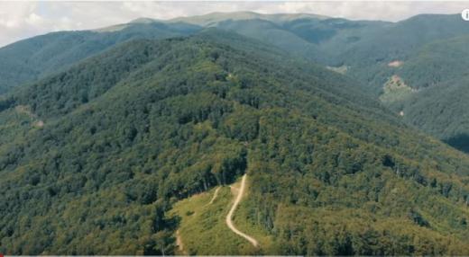 Перехоплює подих: у соцмережі показали, як виглядає гора Апецька з висоти пташиного лету