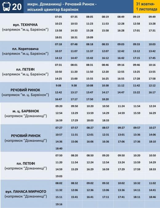 """Напередодні та 1 листопада в Ужгороді збільшать кількість автобусів, які курсують до цвинтаря """"Барвінок"""" (ФОТО)"""