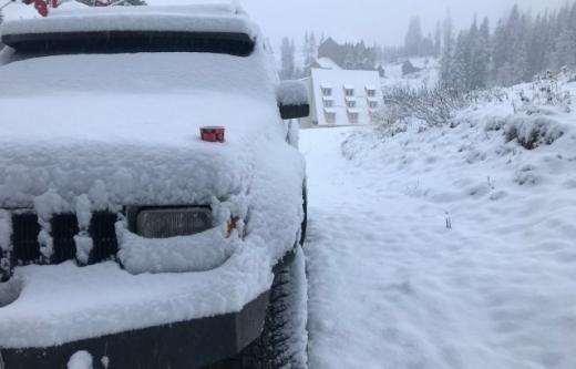 У горах Закарпаття випав сніг