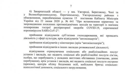 """В Ужгороді скликають комісію ТЕБ та НС щодо обмежень у """"червоній"""" зоні"""