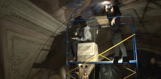 В Ужгородському греко-католицькому соборі реставрують стінопис та іконостас (ВІДЕО)