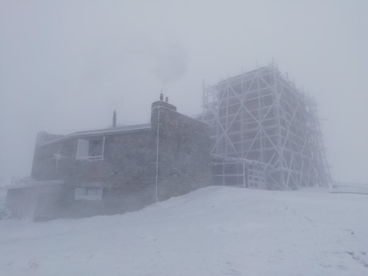 У Карпатах, на горі Піп Іван, вдарив 10-градусний мороз