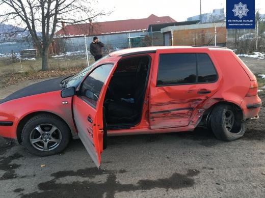 Потрійна ДТП в Мукачеві: затримано водія-винуватця