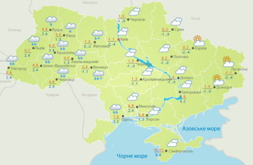 Прогноз погоди: коли в Україні буде сніг та морози
