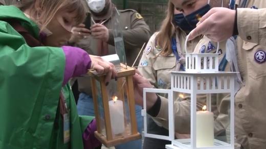 Ужгородські пластуни отримали Вифлеємський вогонь від скаутів Словаччини