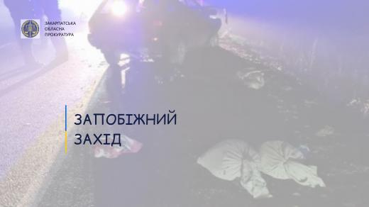 ДТП зі смертельними наслідками на Іршавщині: підозрюваного водія взято під варту
