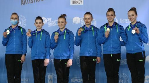 Жіноча збірна України стала чемпіоном Європи зі спортивної гімнастики