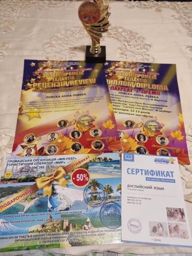 Юна вокалістка з Мукачева здобула перемогу на Міжнародному онлайн-фестивалі