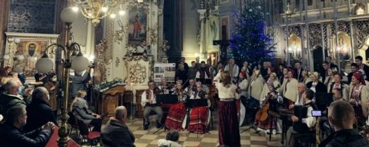 В Ужгородському греко-католицькому соборі колядував Закарпатський народний хор