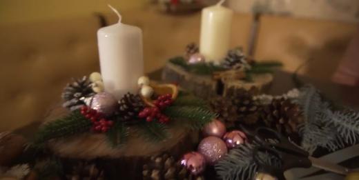 Як ужгородська майстриня виготовляє авторські новорічні підсвічники (ВІДЕО)