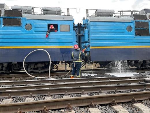Під час руху загорівся поїзд Миколаїв-Рахів (ФОТО)